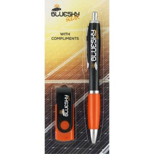 Full Colour Branded Promotional Pen & USB