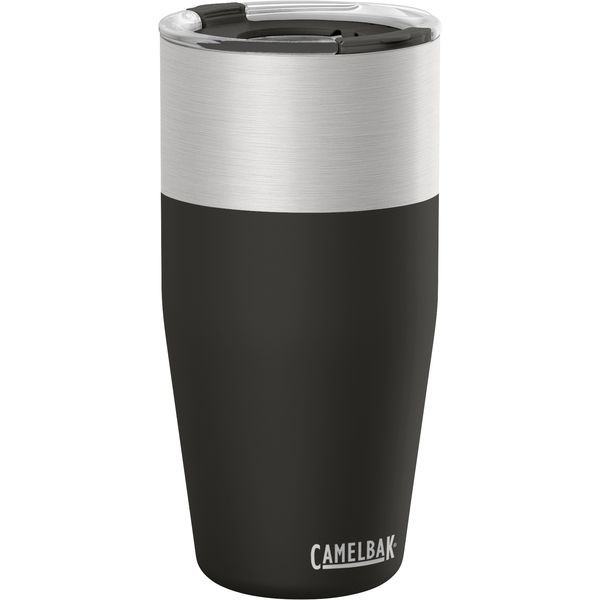 Travel Mug a water and a pint glass McK Promotions Black