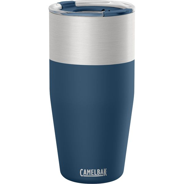 Travel Mug a water and a pint glass McK Promotions navy