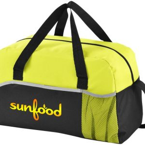 Energy Duffel Overnight Bag - McK Promotions Yellow Bag Front