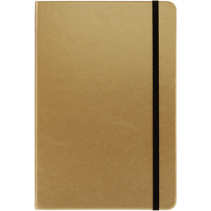 A5 Notebook (gold)- mck promotions