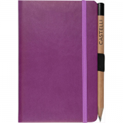 pocket notebook plain Tucson (purple)- mck promotions