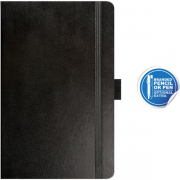 pocket notebook ruled paros black- mck promotions