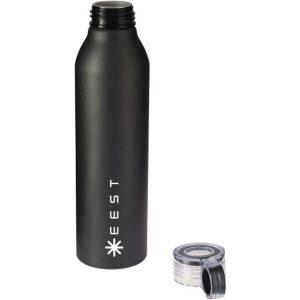 grom aluminium sports bottle(black)- mck promotions