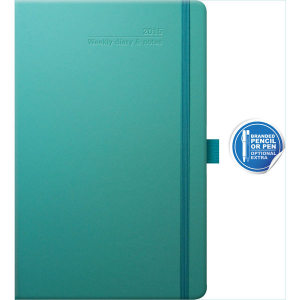 ivory medium weekly diary matra (turquoise)- mck promotions
