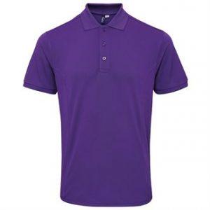 Coolchecker® plus piqué polo with CoolPlus (purple)- mck promotions