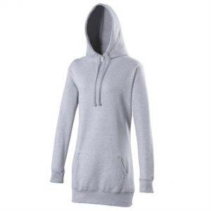 Girlie longline hoodie (grey)- mck promotions