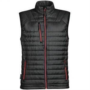 Gravity thermal vest (black, red zip)- mck promotons