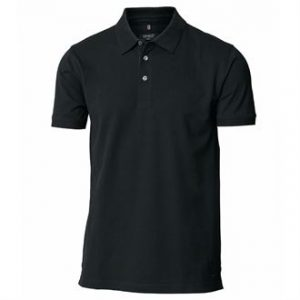 Harvard stretch deluxe polo shirt (BLACK)- mck promotions