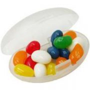 Jelly beans in clear container- mck promotions