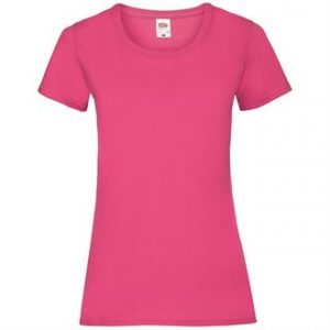 Lady-fit valueweight tee (pink)- mck promotions