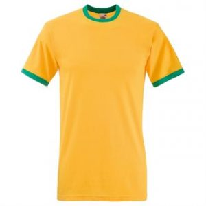 Ringer tee (yellow)- mck promotions