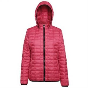 Women's honeycomb hooded jacket (red))- mck promotions
