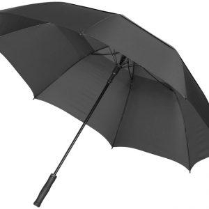 30inch Auto open vented umbrella, solid black- MCK Promotions