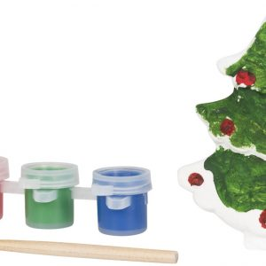 Paint a christmas tree, white- MCK Promotions
