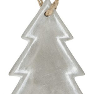 Seasonal christmas tree ornament, grey- MCK Promotions