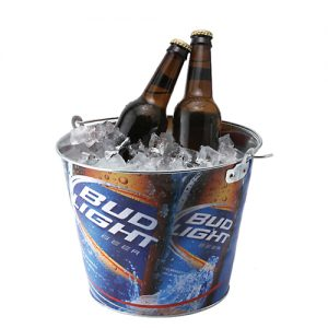 Full Colour Galvanised Stainless Steel Beer Bucket (5 Litre)- MCK Promotions