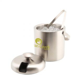 Insulated Stainless Steel Ice Bucket & Tong (1.2L)- MCK Promotions