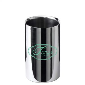 Polished Stainless Steel Wine Cooler (200 x 120mm) (sample 2)- MCK Promotions