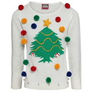 Women's Christmas tree jumper- MCK Promotions