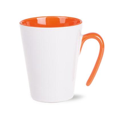 Orange - Porcelain Mug - Open- McK Promotions