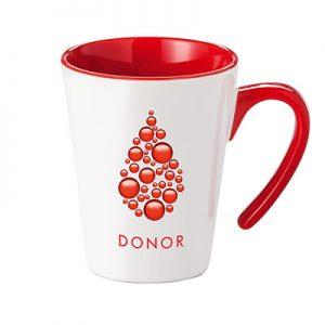Porcelain Mug - Open- McK Promotions RED