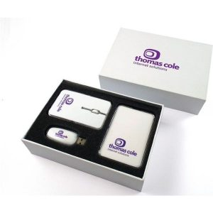 Wireless Mouse, Crystal Power Bank and USB Flash Drive. McK Promotions