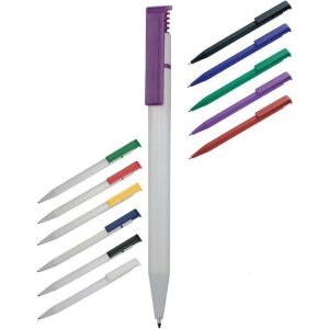 Solid Calico Ballpen white barrel- MCK Promotions