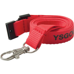 15mm flat polyester lanyard (red)- mck promotions