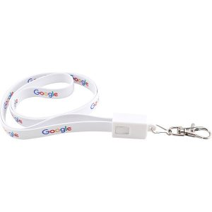 2 in 1 charging cable lanyard - mck promotions