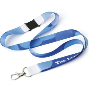 20mm Far East Dye Sublimation Printed lanyard (blue)- mck promotions