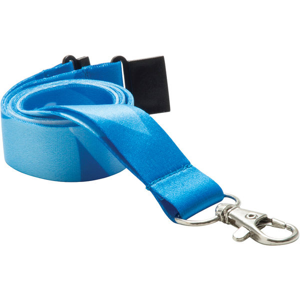20mm dye sublimated polyester lanyard (blue)- mck promotions