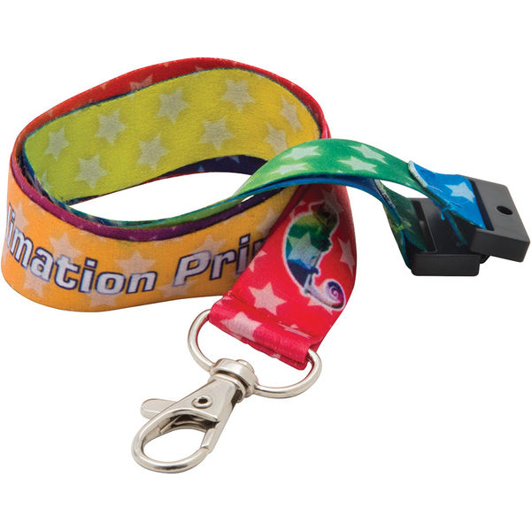 20mm dye sublimated polyester lanyard- mck promotions