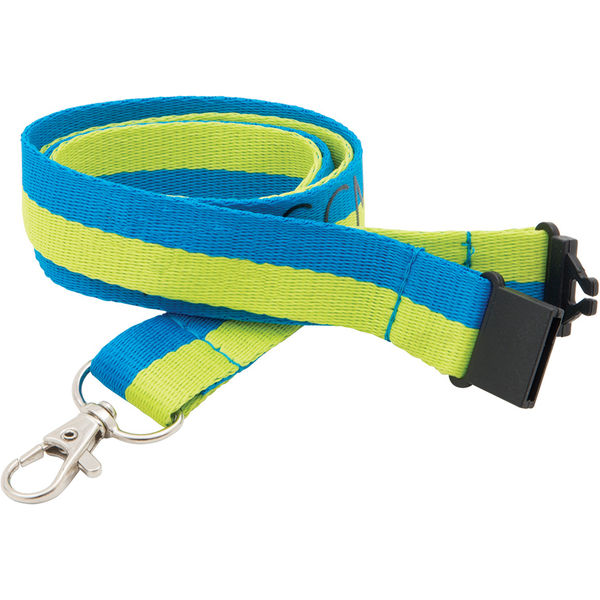 20mm executive woven lanyard (blue,green)- mck promotions