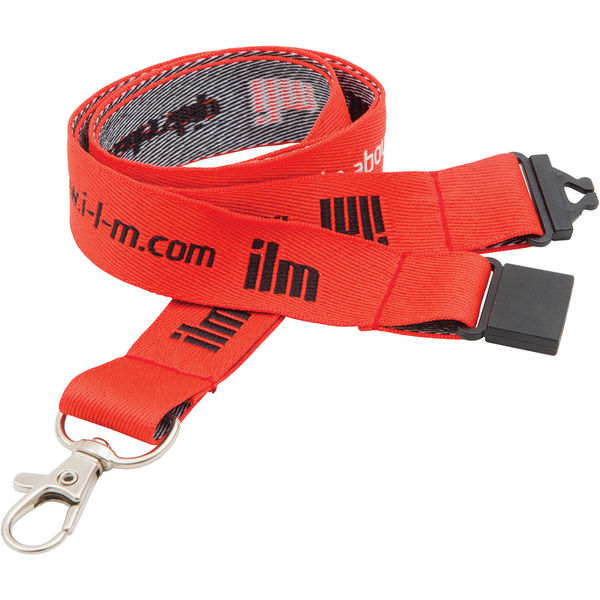 20mm executive woven lanyard (red)- mck promotions