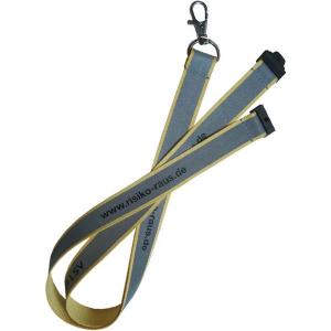 20mm reflective lanyard (grey)- mck promotions