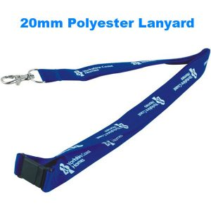 20mm screen printed polyester lanyard- mck promotions