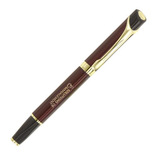 Abbott Deluxe Rollerball Pen (burgendy)- mck promotions