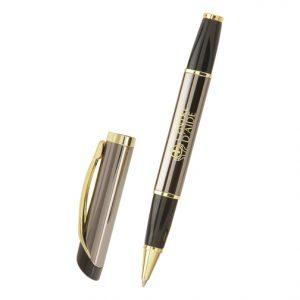 Abbott Deluxe Rollerball Pen (gunmetal) - mck promotions