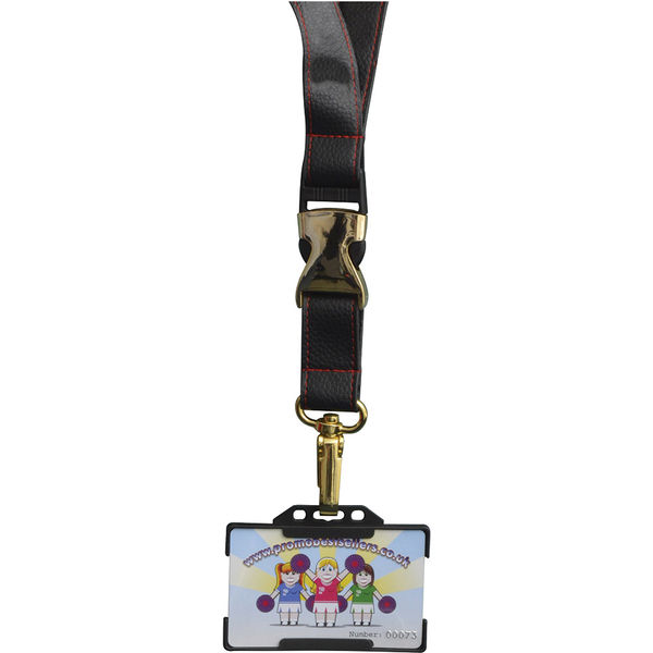 PU Leather lanyard- mck promotions