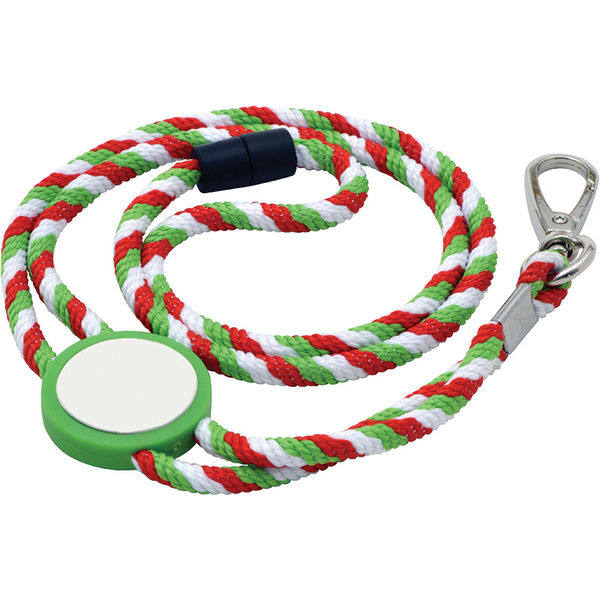 Rope lanyard with Tab inset- mck promotions
