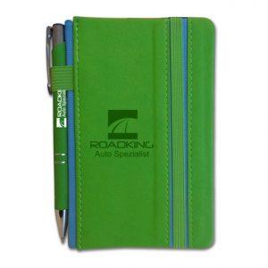 Wilde Notebook & Pen (green)- mck promotions
