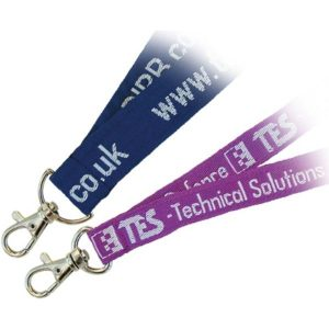 Woven lanyard (blue, purple)- mck promotions