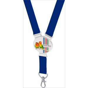 snap lanyard elliptical shape (dark blue)- mck promotions