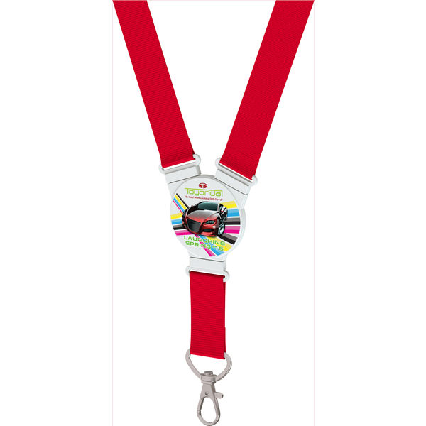snap lanyard round shape (red)- mck promotions
