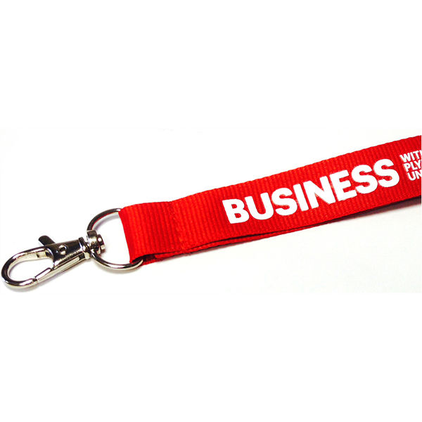 2cm flat polyester lanyard- mck promotions