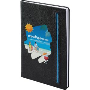 Denim black notebook (black,blue)- mck promotions