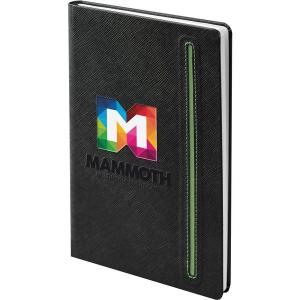 Denim black notebook (black,green)- mck promotions
