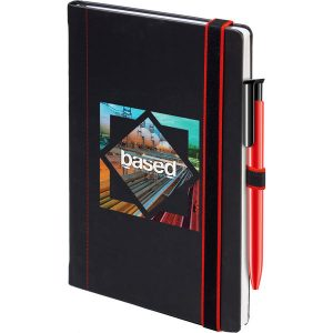 Duo notebook (black,red)- mck promotions