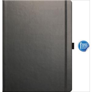 Large Notebook plain paper Tucson (graphite)- mck promotions